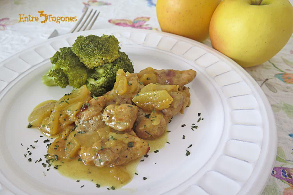 Pollo a la Sidra con Manzanas Thermomix