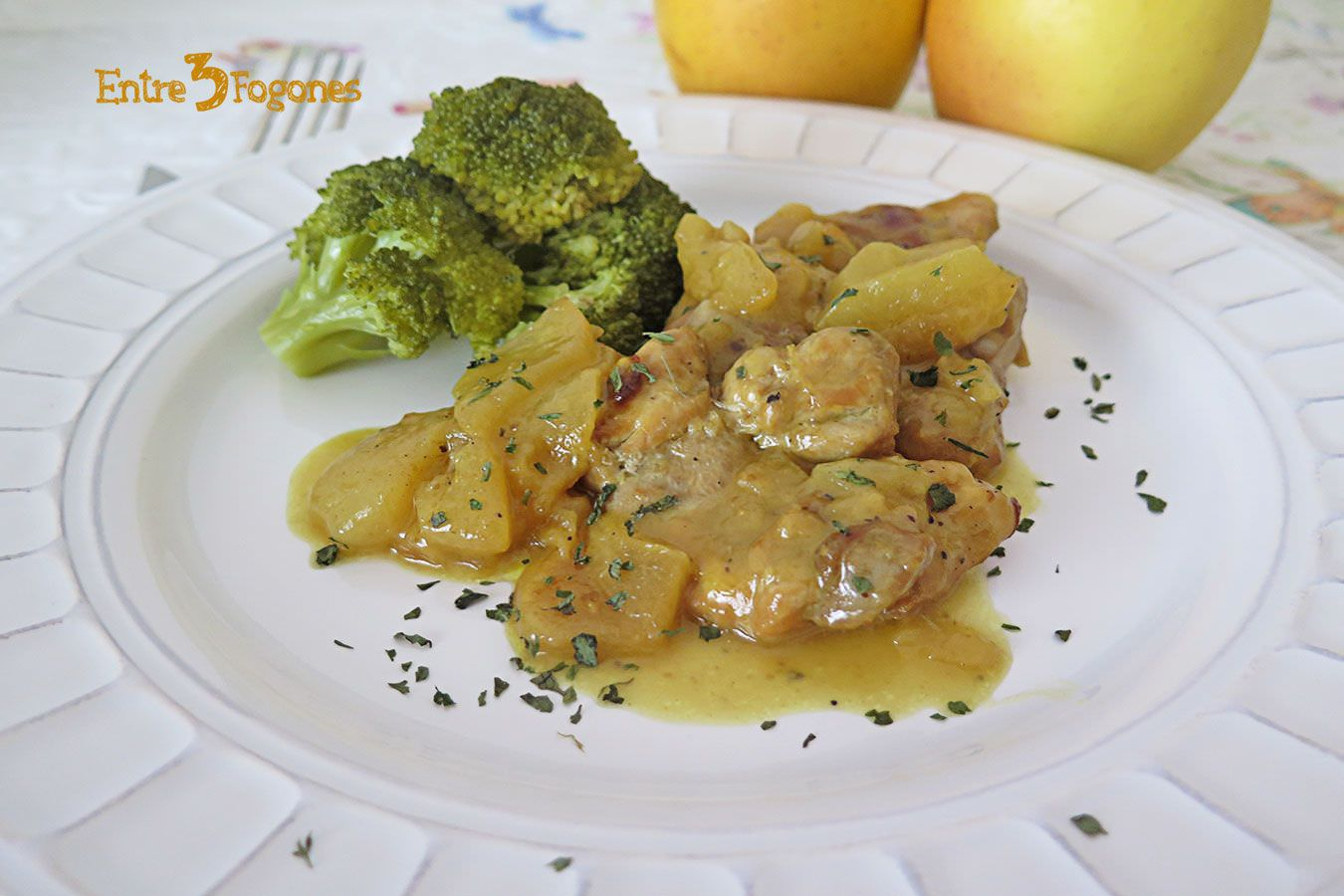 Photo of Pollo con Manzanas a la Sidra en Thermomix