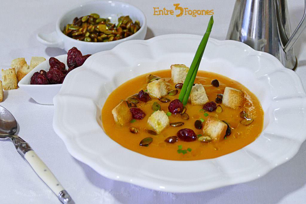Receta Crema de Calabaza y Zanahoria