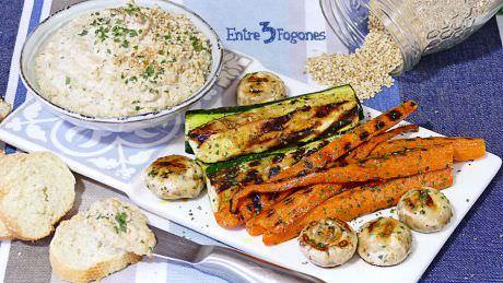 Salsa Tahina con Verduras a la Plancha