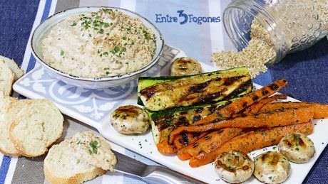 Salsa Tahini en Thermomix con Verduras a la Plancha