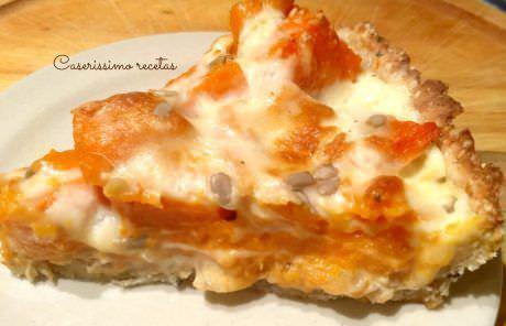 Tarta de Calabaza con Cebolla y Quesos