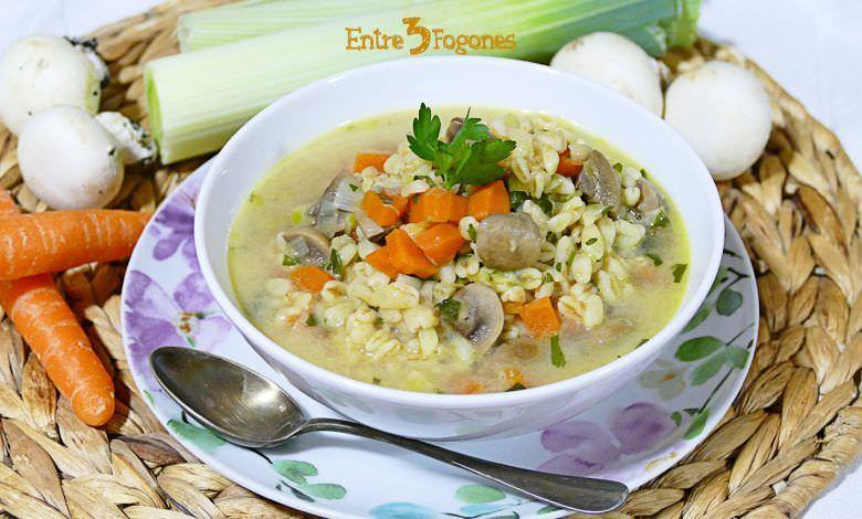 Sopa de Verduras con Trigo