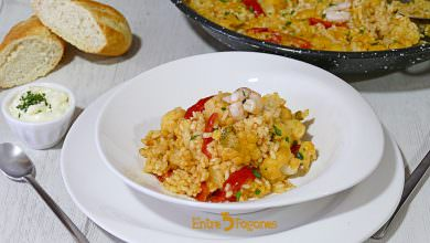 Photo of Arroz con Sepia y Coliflor