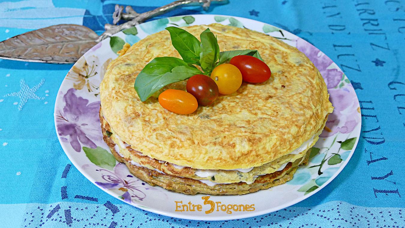 Pastel de Tortillas Vegetariano