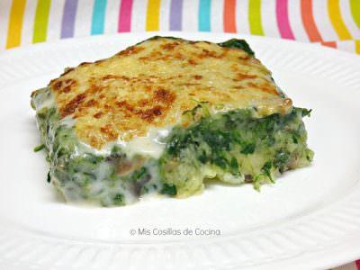 Pastel de Espinacas con Patata