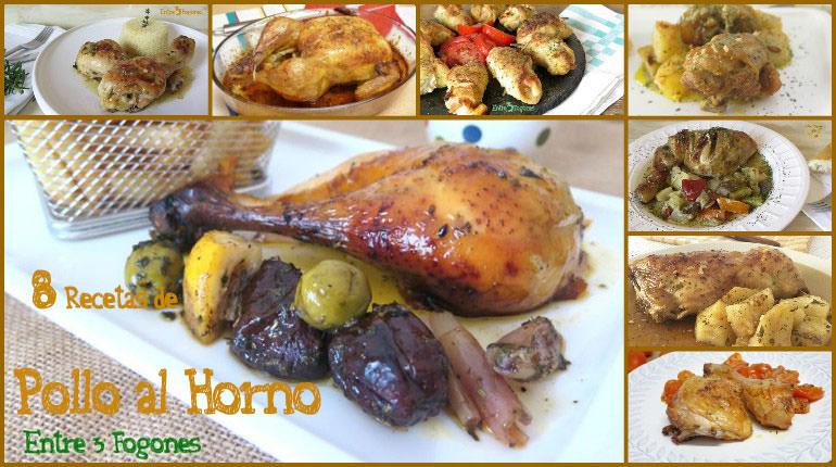 8 Recetas de Pollo al Horno Fáciles y Deliciosas