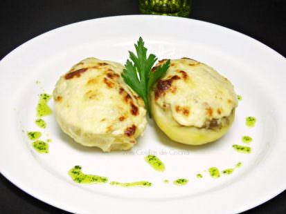 Patatas Rellenas de Champiñones