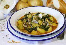 Receta Caldo de Patatas con Almejas