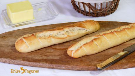 Receta de Baguette o Pan Francés Crujiente