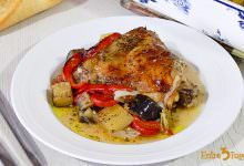 Photo of Pollo al Horno con Verduras y Vino Blanco