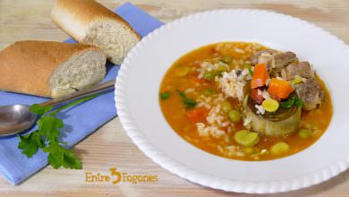 Photo of Arroz Caldoso con Costillas y Verduras
