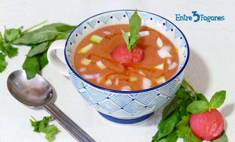 Gazpacho de Sandía Thermomix