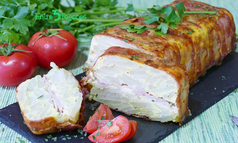 Pastel de Patata con Bacon Jamón York y Queso