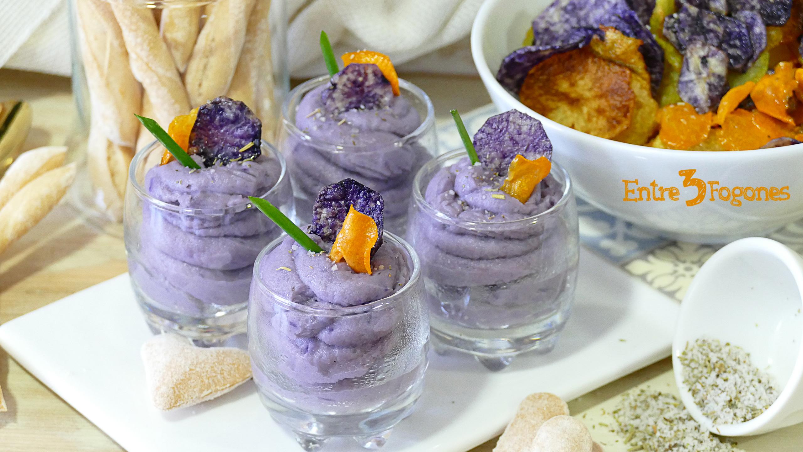 Mousse de Foie con Patatas Violetas