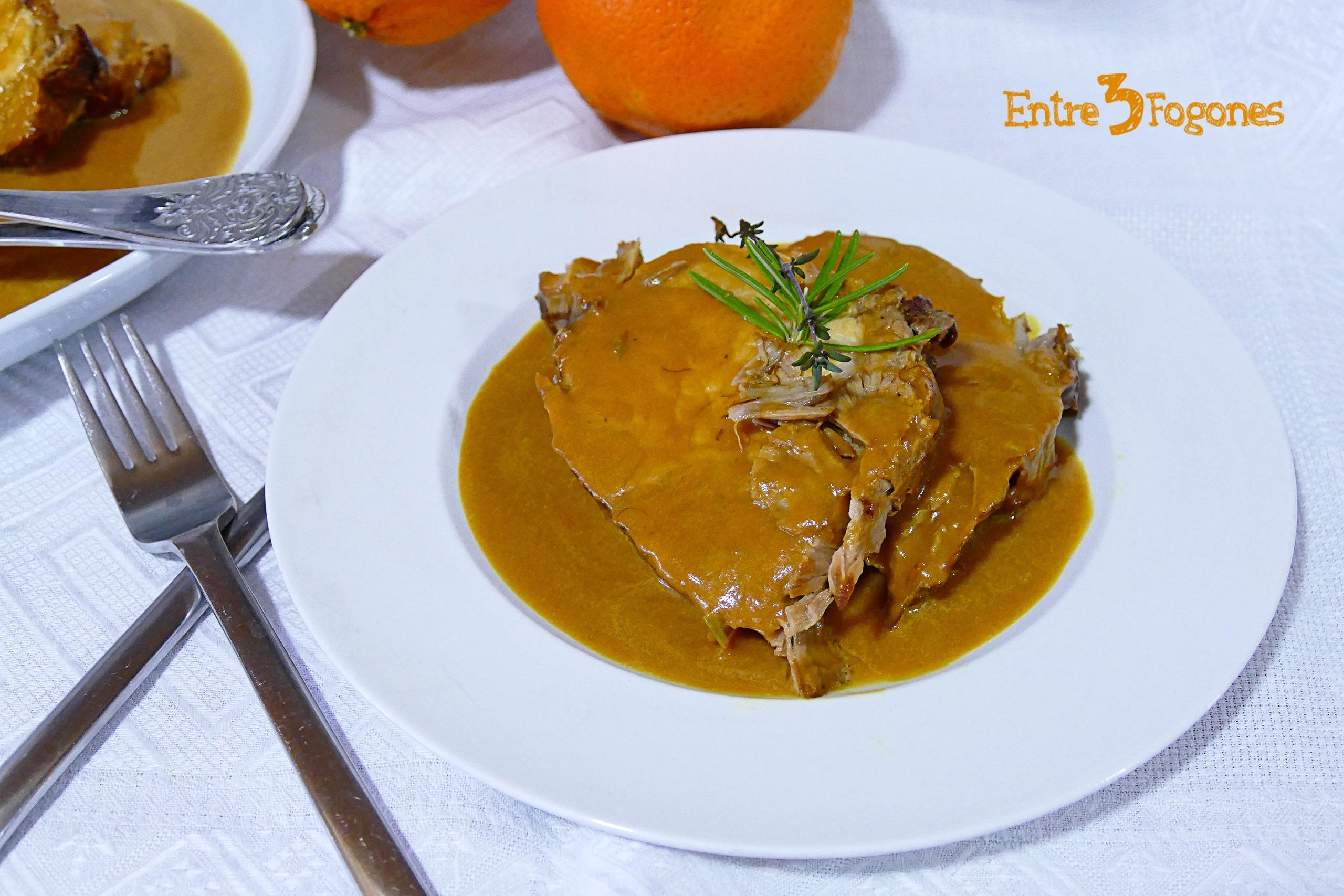 Cinta de Lomo en Salsa de Naranja y Miel