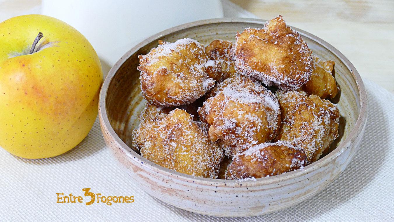 Buñuelos de Manzana Esponjosos