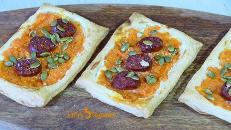 Hojaldres Rellenos de Chorizo y Batata