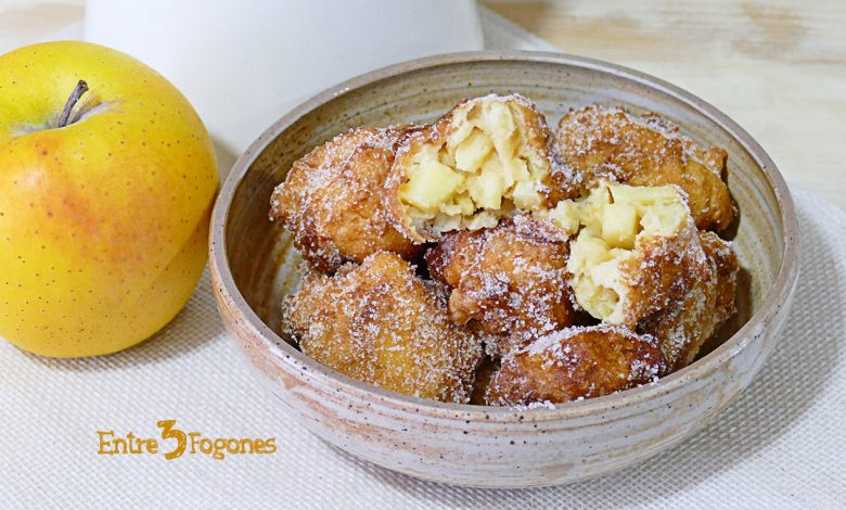 Receta Fácil de Buñuelos de Manzana