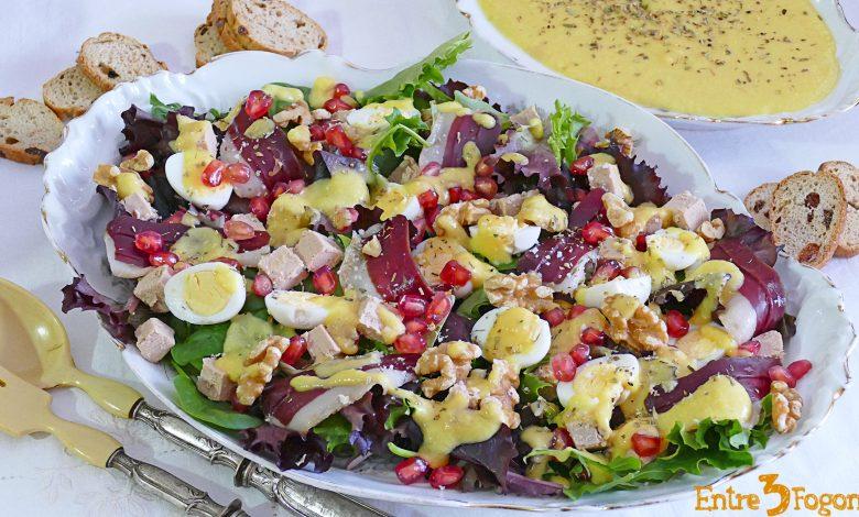 Ensalada Gourmet de Jamón de Pato con Vinagreta de Piña