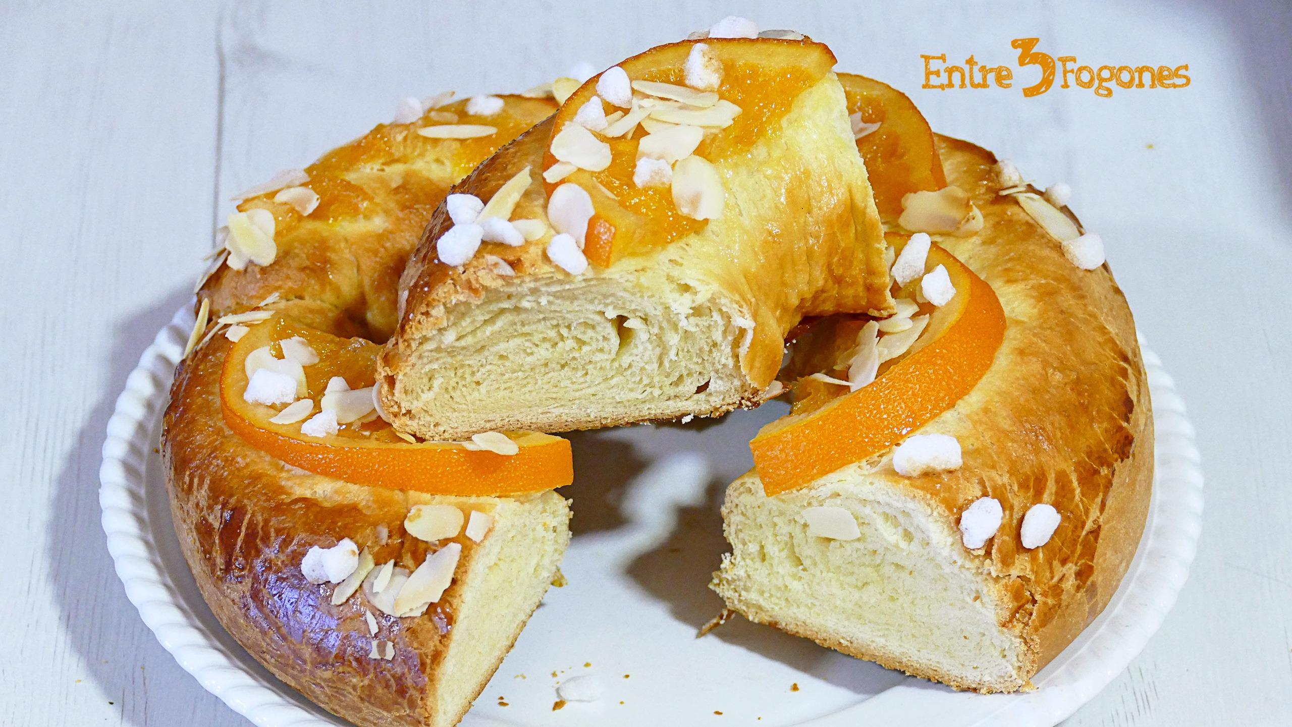 Roscón de Reyes Casero con Naranja Confitada Thermomix