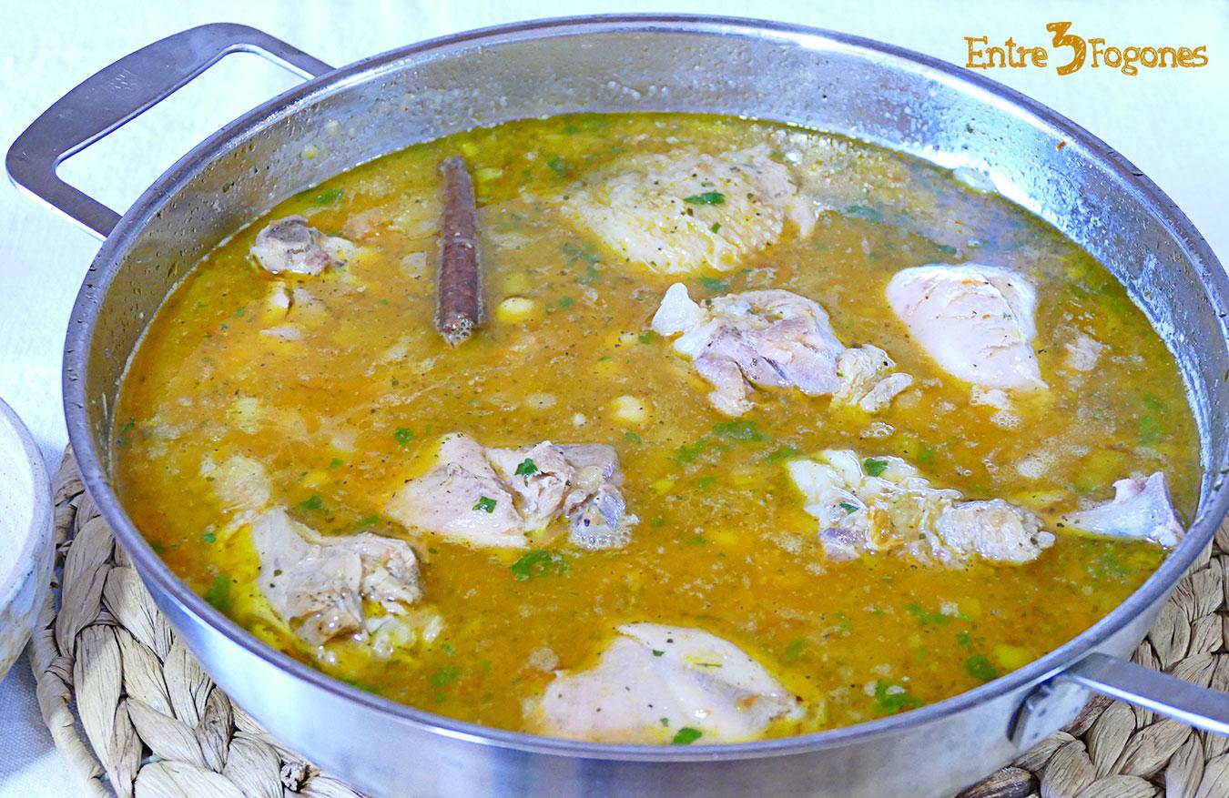 Potaje de Pollo con Garbanzos y Verduras