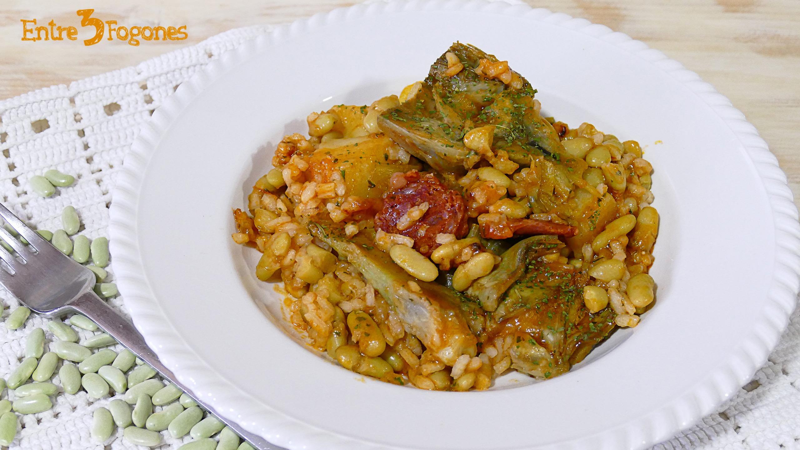 Arroz con Verdinas y Chorizo