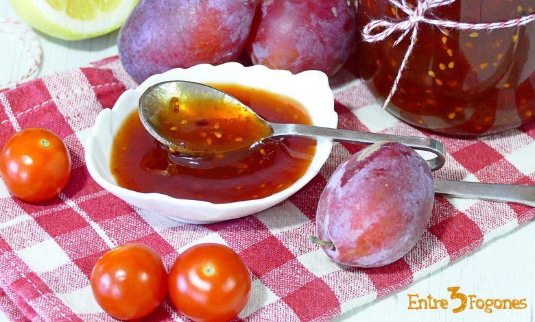 Mermelada de Ciruelas y Tomates Cherry con Thermomix