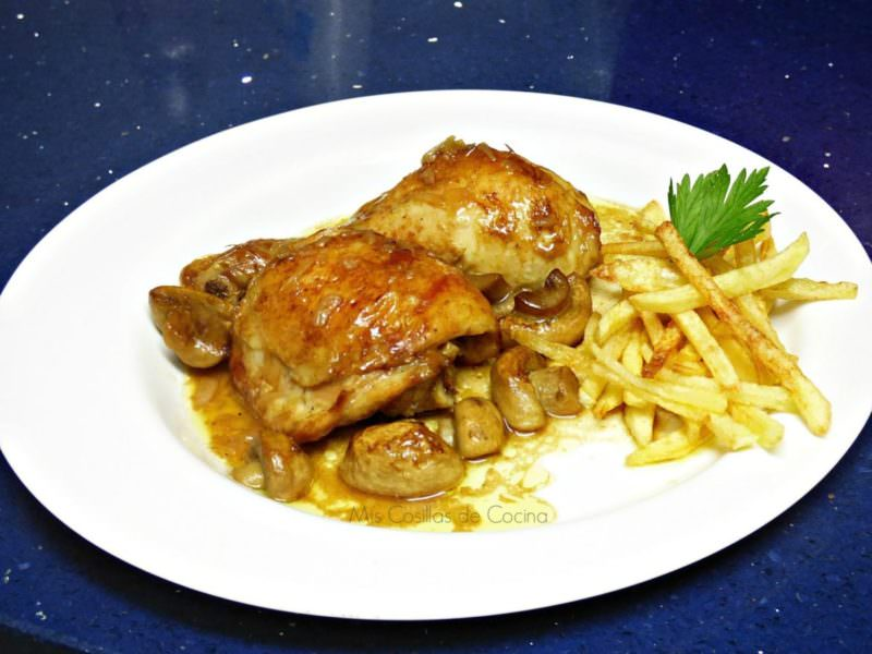 Pollo al Horno con Champiñones