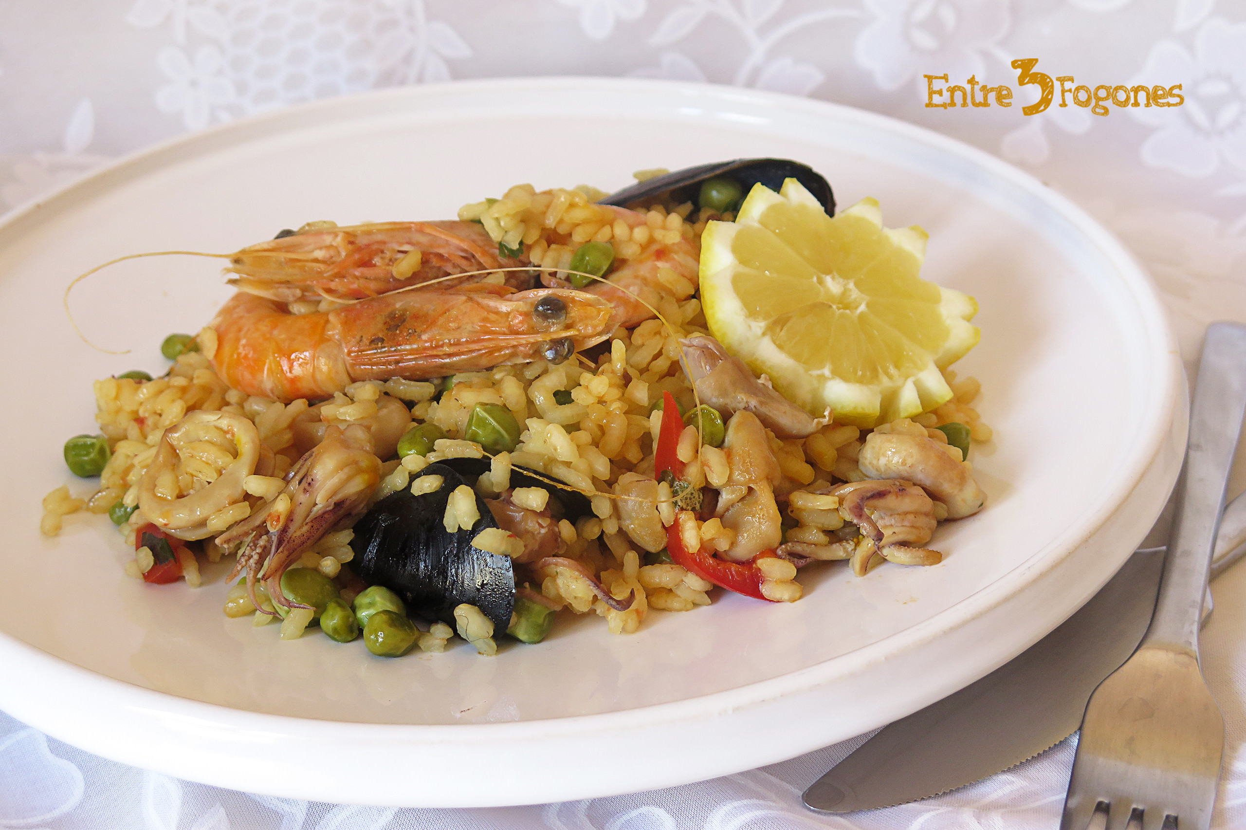 Photo of Arroz con Calamares o Chipirones