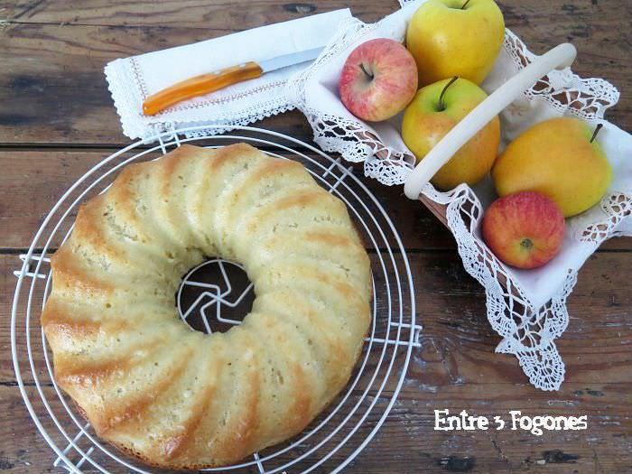 Bizcocho de Manzana sin Huevo