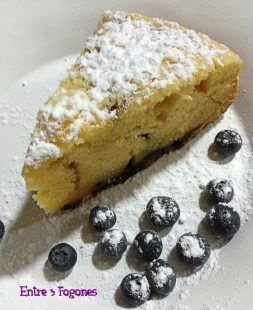 Cake de Arándanos y Chocolate Blanco
