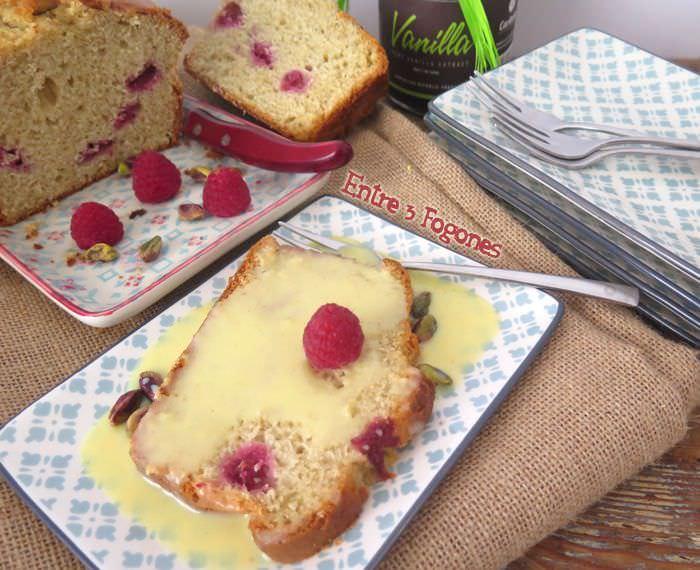 Cake de Pistachos y Frambuesas