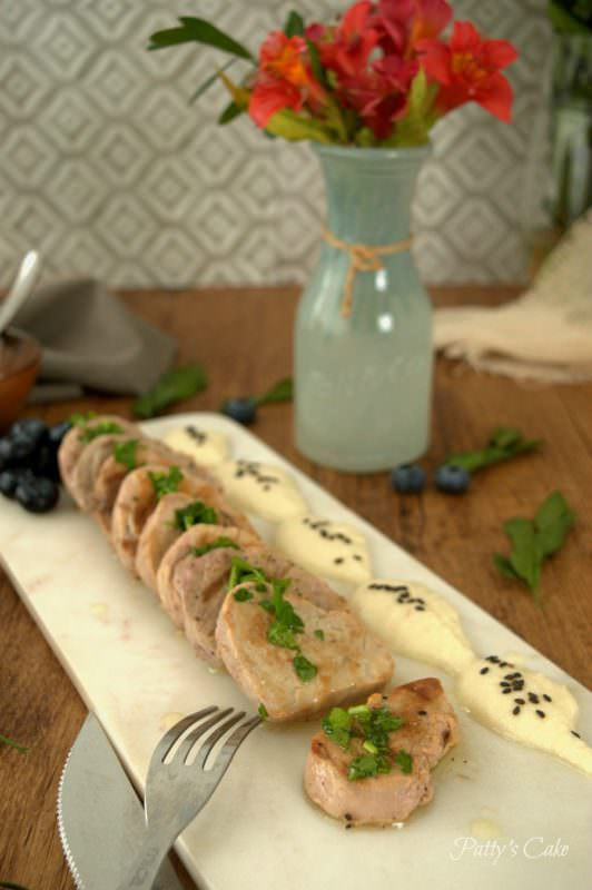 Solomillo de Cerdo en Salsa de Yogur