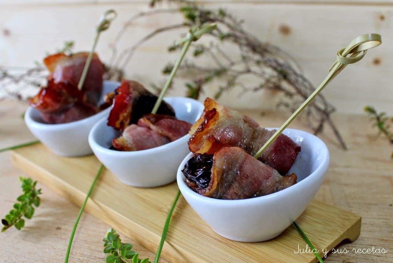 Ciruelas con Bacon