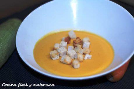 Crema de Zanahoria, Calabacín y Leche de Soja