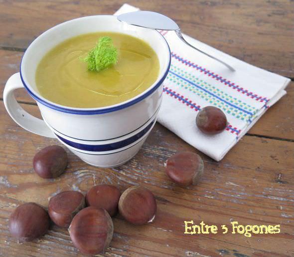 Receta Crema de Potimarron y Castañas