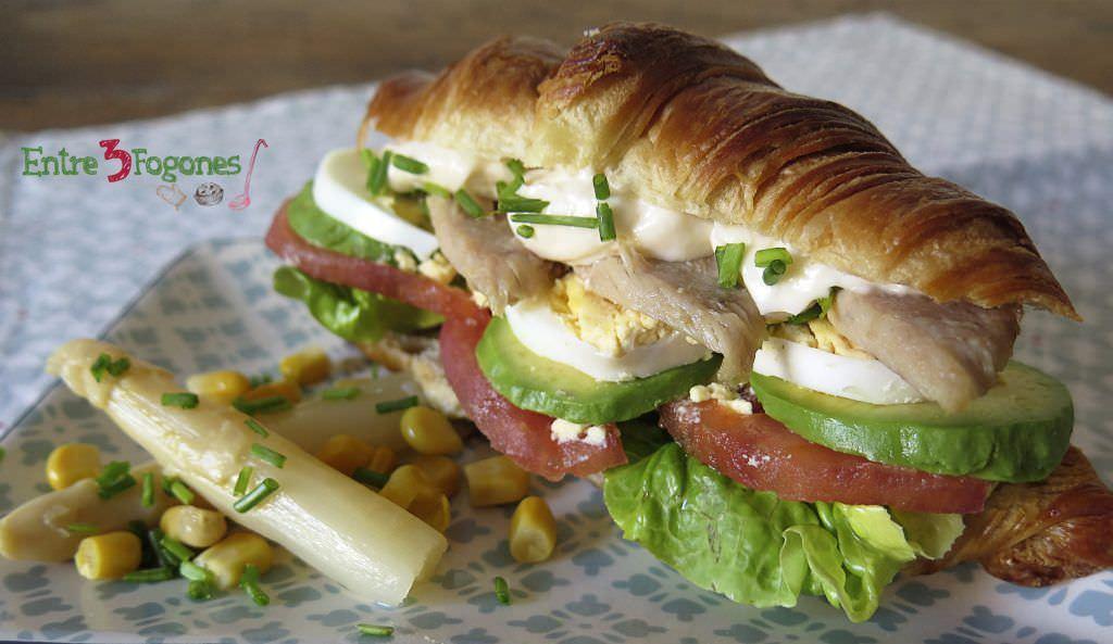 Croissant con Vegetales y Ventresca de Atún