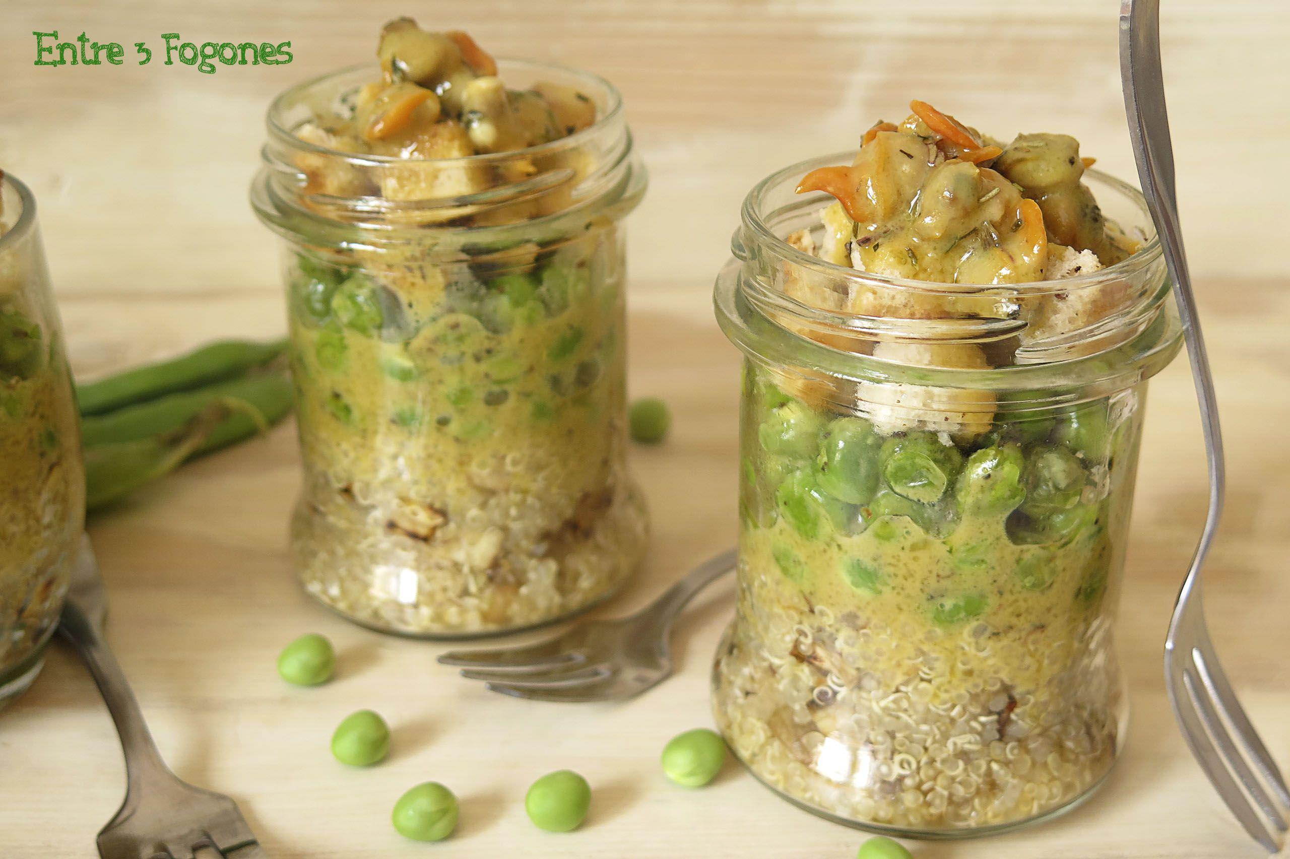 Photo of Ensalada de Quinoa con Guisantes y Berberechos Marinados