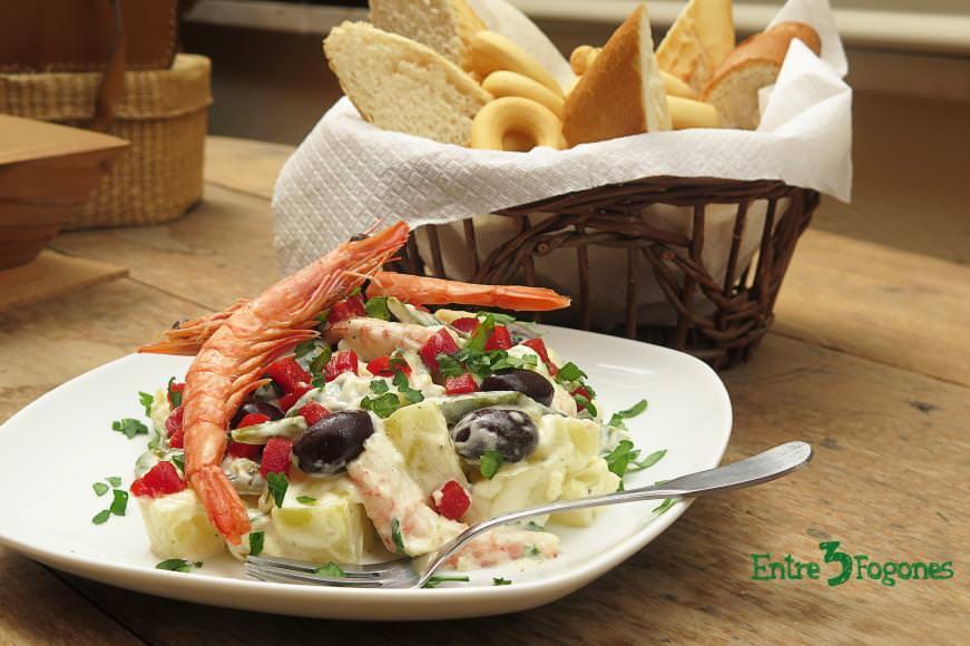 Ensaladilla de Gambas con Judías Verdes y Patata