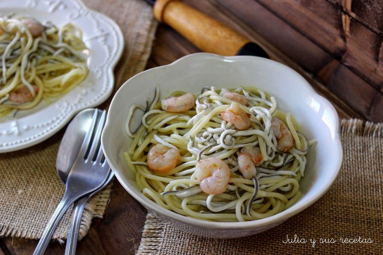 Espaguetis con Gulas