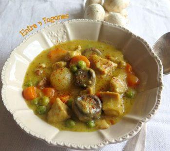 Estofado de Ternera Blanca con Verduras en Salsa de Mantequilla