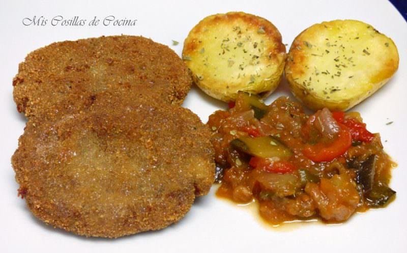 Filetes Rusos con Patatas y Pisto
