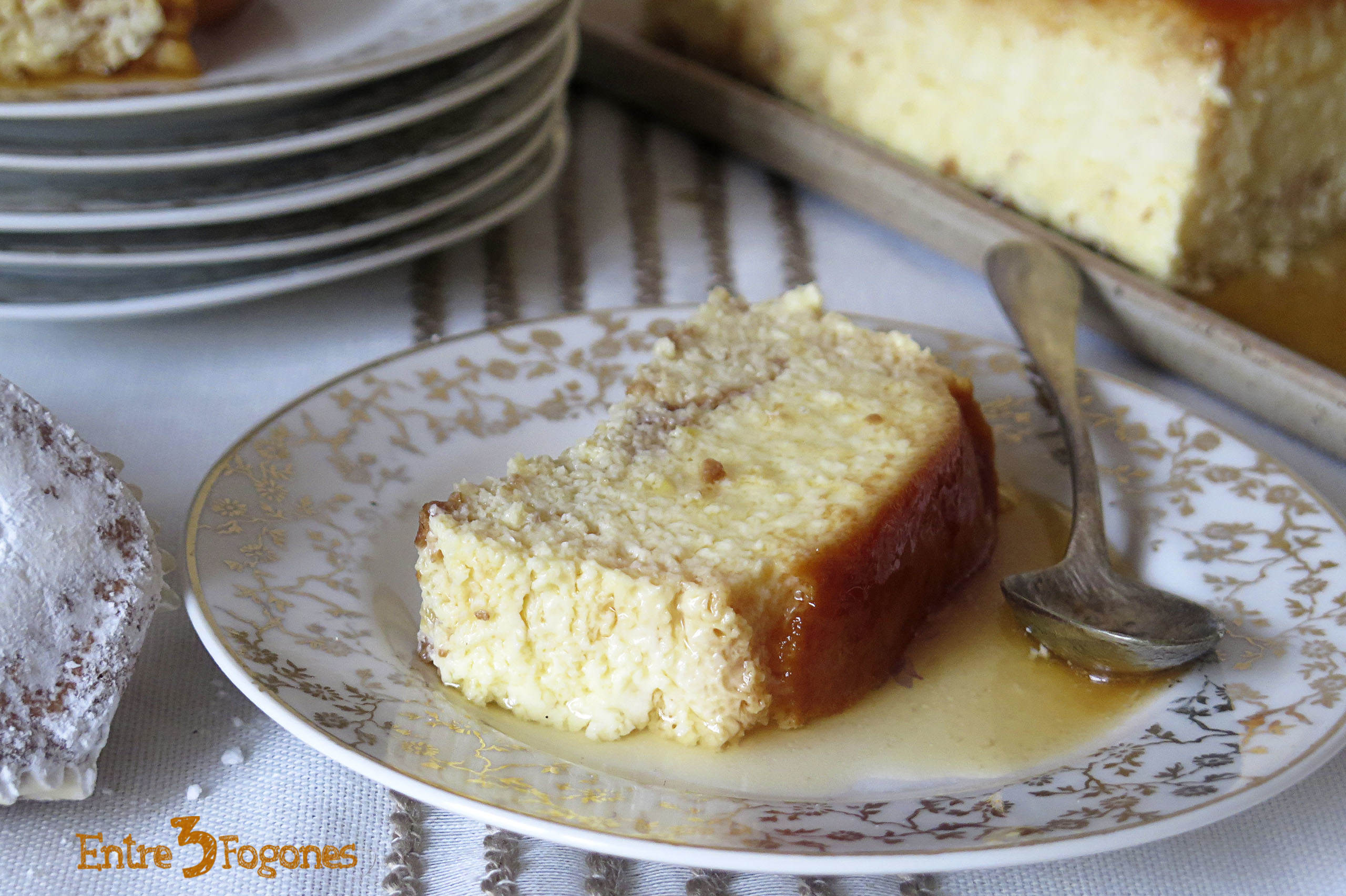 Photo of Flan de Huevo con Marquesitas de Almendra