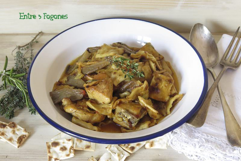Gazpachos Manchegos con Pollo y Setas