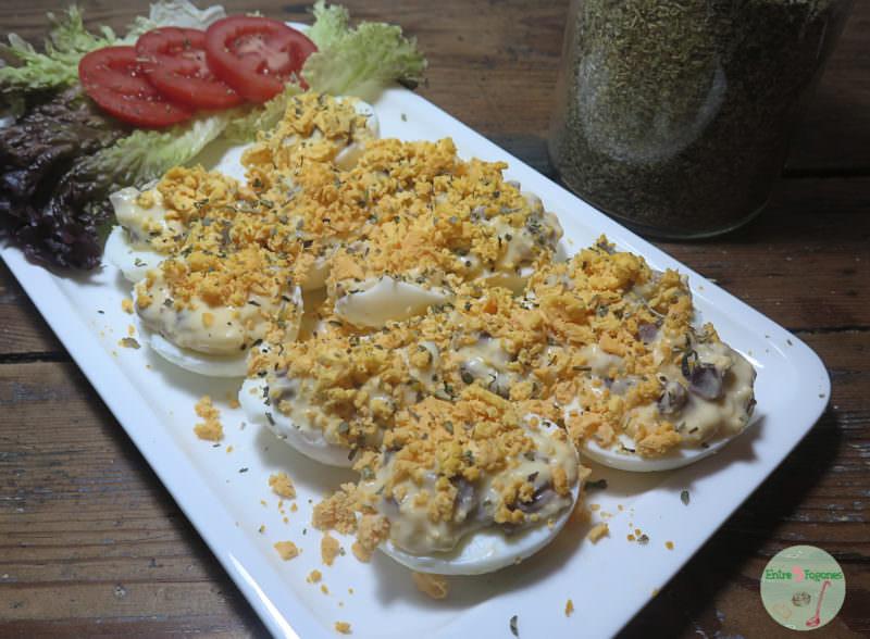 Huevos Mimosa con Jamón Ibérico y Bechamel