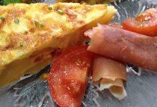 Tortilla de bacon y tortilla de manzana