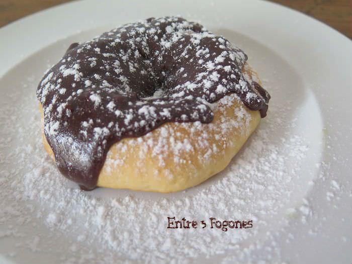 Donuts al horno con chocolate