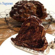 Bundt Cake Cebra con Chocolate