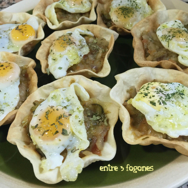 Photo of Tartaletas Rellenas de Ratatouille y Huevo de Codorniz
